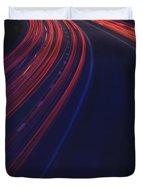 Trail Blazing Duvet Cover by Shelley Neff