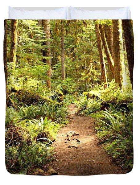 Trail Through The Rainforest Duvet Cover
