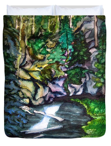 Trail To Broke-off Duvet Cover by Lil Taylor