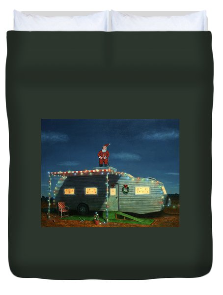 Trailer House Christmas Duvet Cover