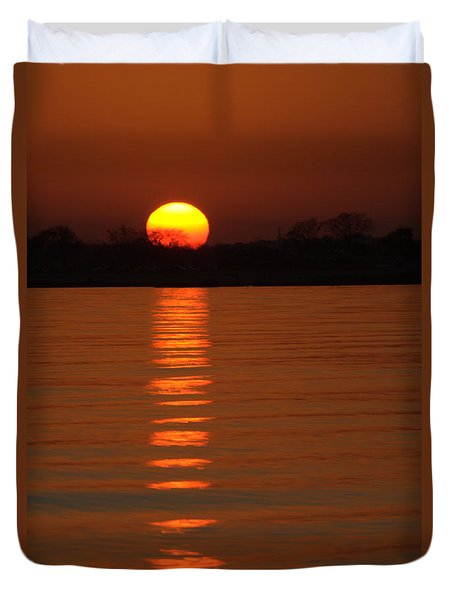 Trailing Sun Duvet Cover by Karol Livote