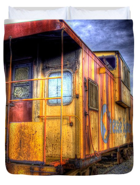 Train Caboose Duvet Cover by Jonny D
