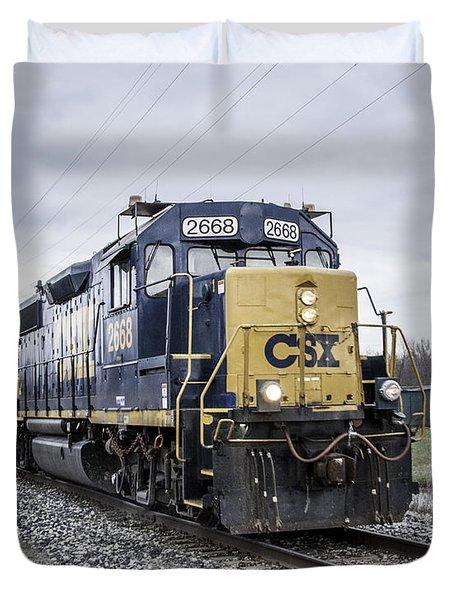 Train Engine 2668 Duvet Cover