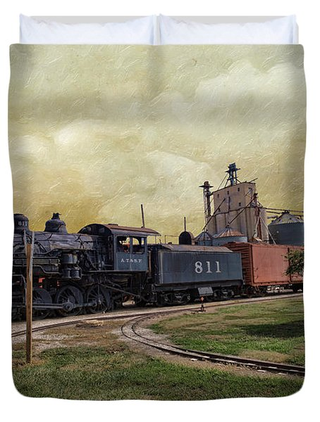Train - Engine Duvet Cover by Liane Wright