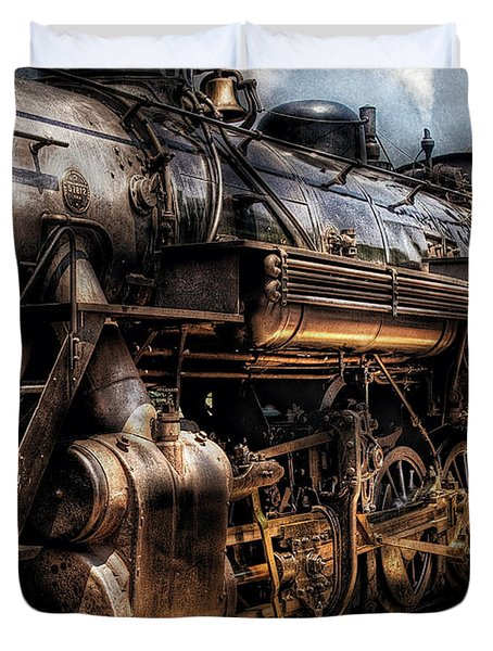 Train - Engine -  Now Boarding Duvet Cover