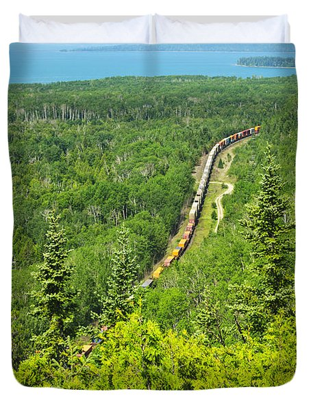 Train In Northern Ontario Duvet Cover