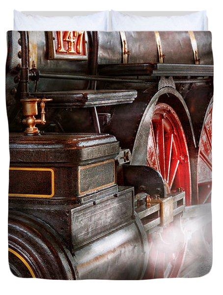 Train - Let Off Some Steam  Duvet Cover by Mike Savad