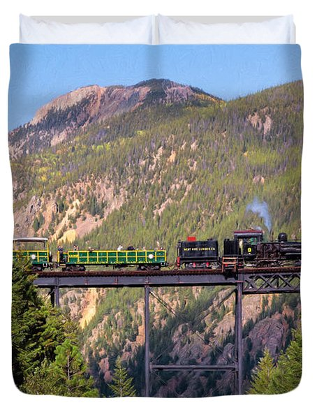 Train Over The Trestle Duvet Cover