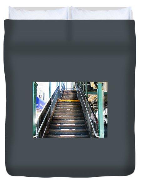 Train Staircase Duvet Cover