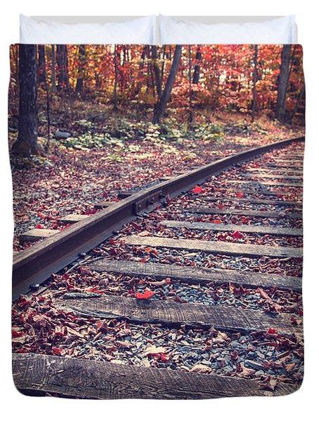 Train Tracks Duvet Cover by Edward Fielding