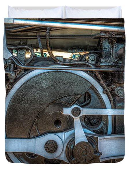 Train Wheels Duvet Cover by Paul Freidlund