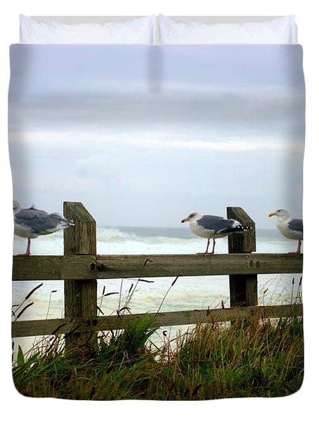 Trained Gulls Duvet Cover by John  Greaves