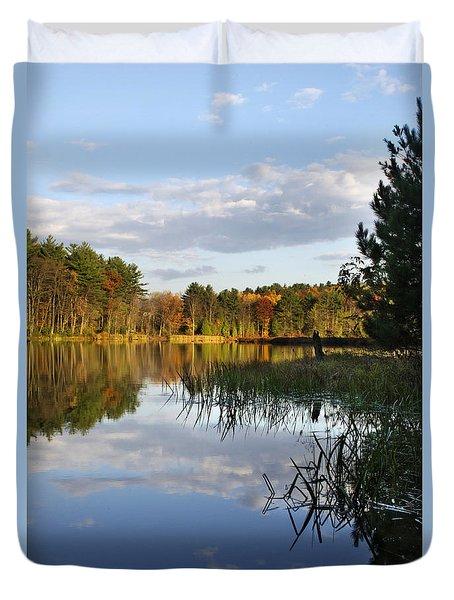 Tranquil Autumn Landscape Duvet Cover by Christina Rollo
