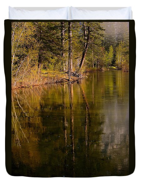 Tranquil Merced River Duvet Cover by Duncan Selby