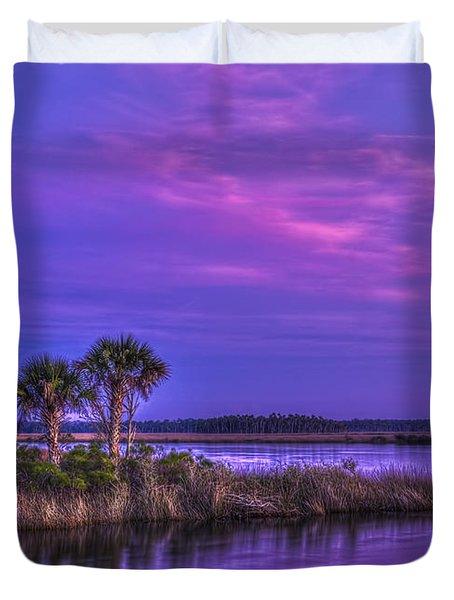 Tranquil Palms Duvet Cover