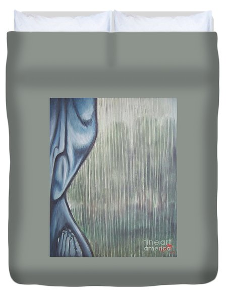 Tranquil Rain Duvet Cover by Michael  TMAD Finney