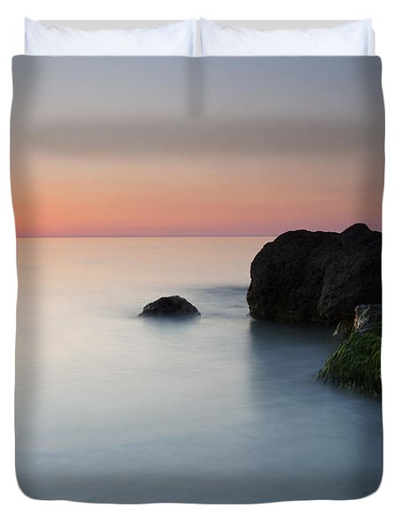 Tranquil Sunset Duvet Cover by Mike  Dawson