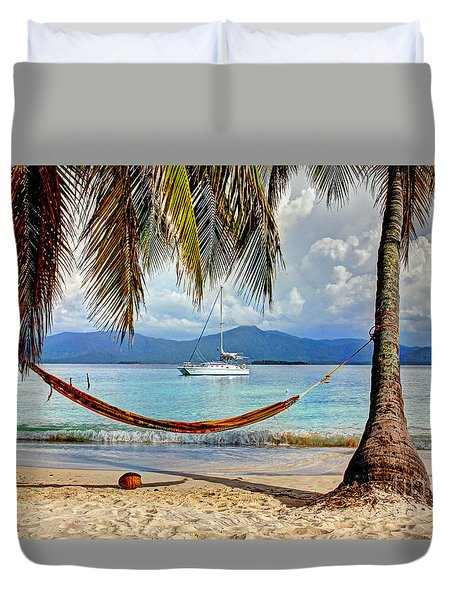 Tranquility Base Duvet Cover by Bob Hislop