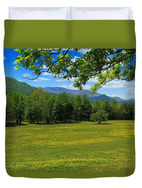 Duvet Cover featuring the photograph Tranquility by Geraldine DeBoer
