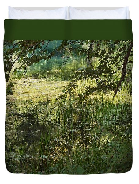 Duvet Cover featuring the photograph Tranquility by Mary Wolf