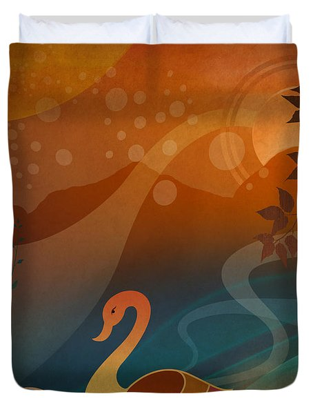 Tranquility Sunset Duvet Cover by Bedros Awak