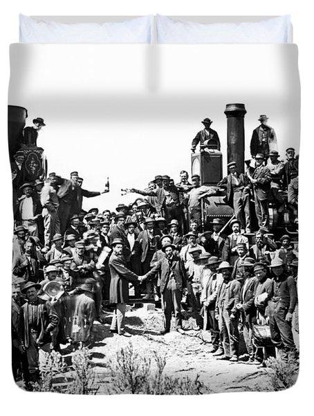 Transcontinental Railroad Duvet Cover