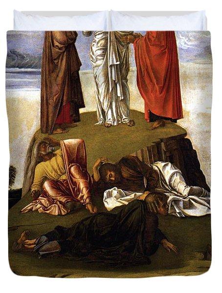Transfiguration Of Christ On Mount Tabor 1455 Giovanni Bellini Duvet Cover by Karon Melillo DeVega