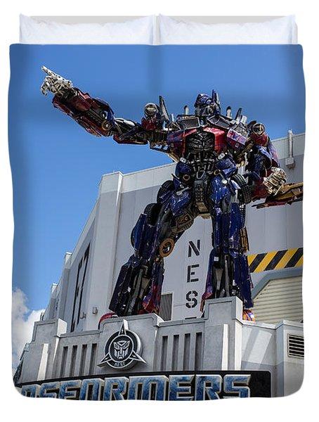 Transformers The Ride 3d Universal Studios Duvet Cover