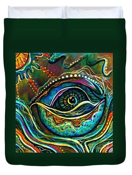 Transitional Spirit Eye Duvet Cover