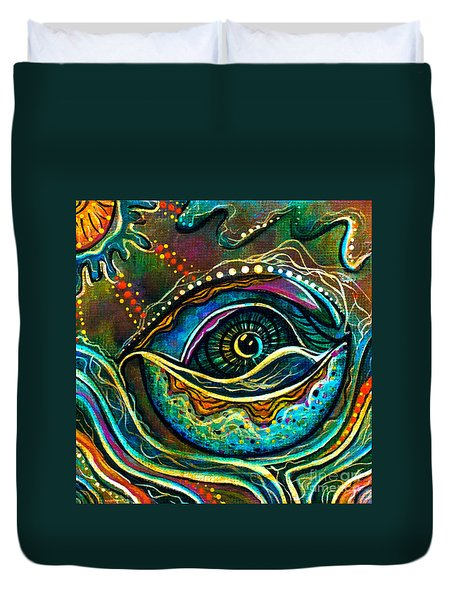 Transitional Spirit Eye Duvet Cover by Deborha Kerr