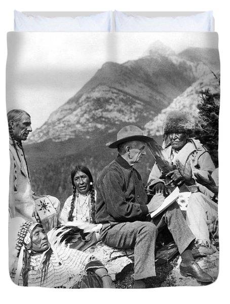 Translating Native Legends Duvet Cover