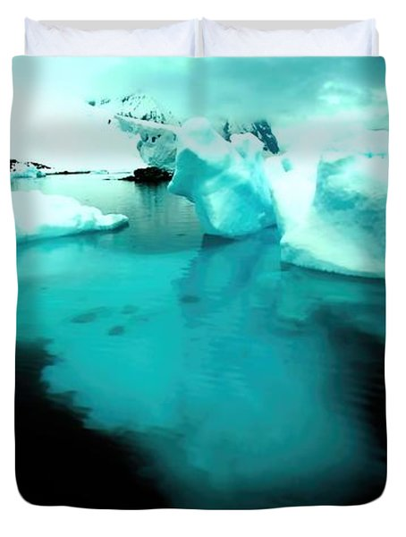 Duvet Cover featuring the photograph Transparent Iceberg by Amanda Stadther