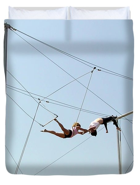 Trapeze School Duvet Cover by Brian Wallace