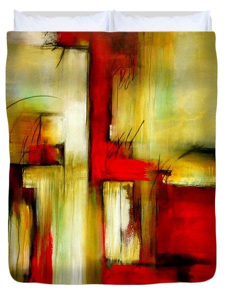 Traspasando Duvet Cover by Thelma Zambrano