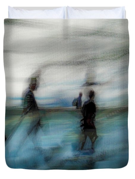 Duvet Cover featuring the photograph Travel Blues by Alex Lapidus