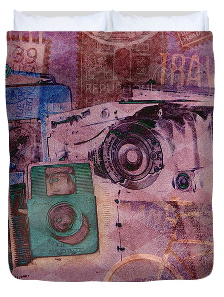 Travel Log Duvet Cover by Erika Weber