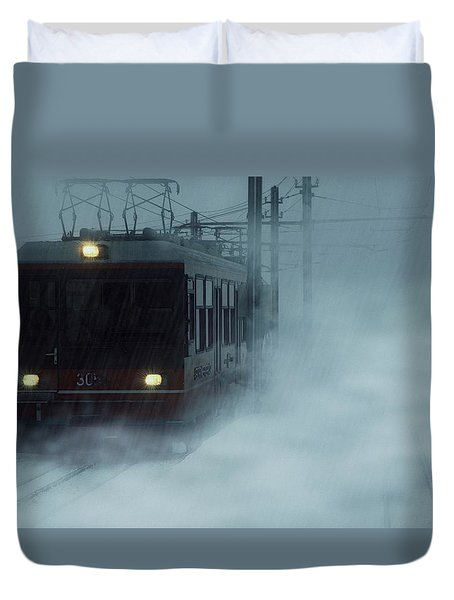 Traveling In The Snow... Duvet Cover