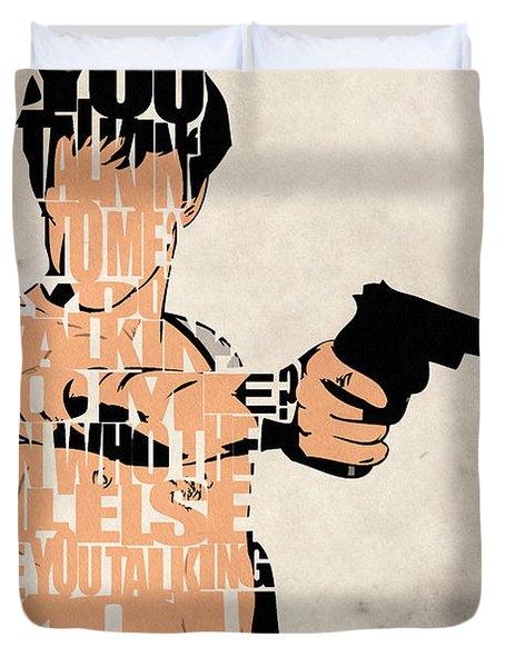 Travis Bickle - Robert De Niro Duvet Cover