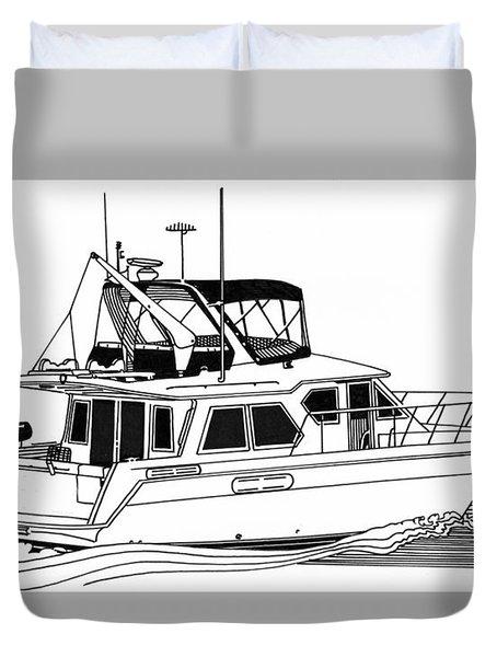 Trawler Yacht Duvet Cover by Jack Pumphrey