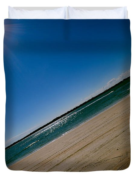Duvet Cover featuring the photograph Treads In The Sand by DigiArt Diaries by Vicky B Fuller