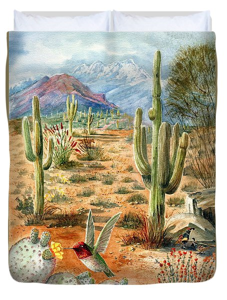 Treasures Of The Desert Duvet Cover