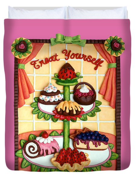 Treat Yourself Duvet Cover by Amy Vangsgard
