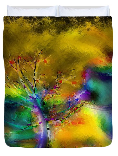 Tree Abstract - Bold Is Beautiful Duvet Cover by Liane Wright