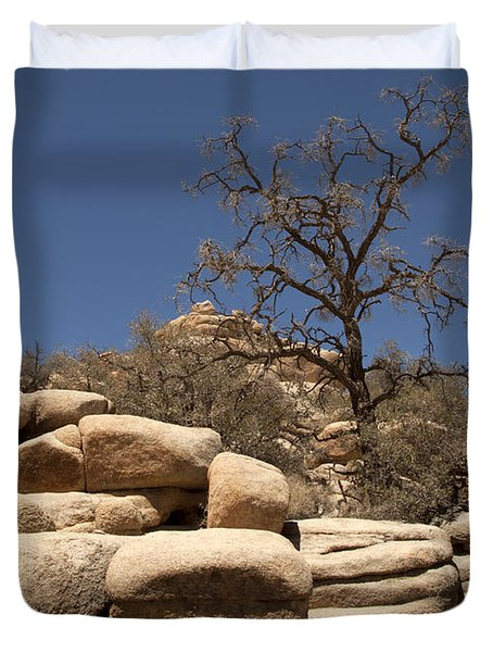 Tree At Joshua Tree Duvet Cover by Amanda Barcon