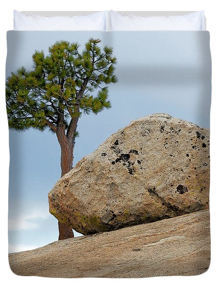 Tree At Olmsted Point Yosemite National Park California Duvet Cover by Christine Till