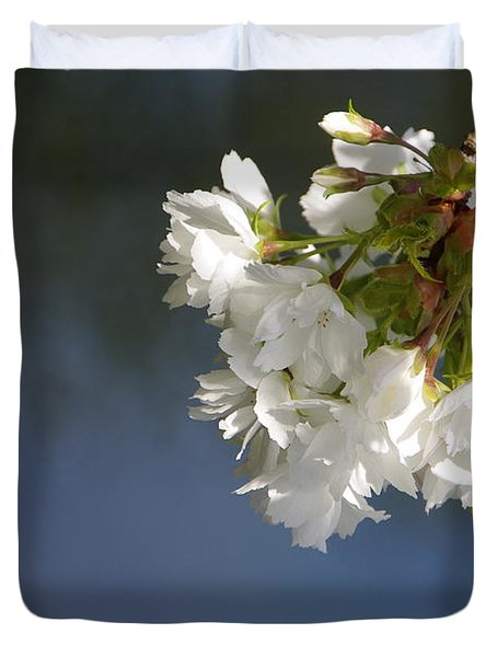 Duvet Cover featuring the photograph Tree Blossoms by Marilyn Wilson