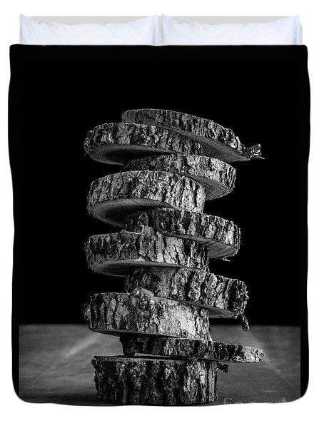 Tree Deconstructed Duvet Cover by Edward Fielding