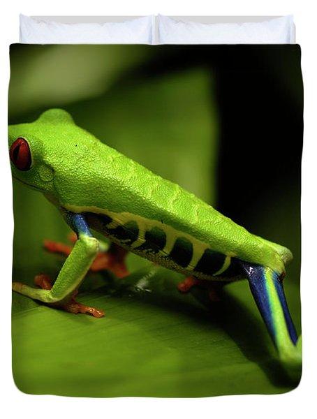 Tree Frog 12 Duvet Cover by Bob Christopher