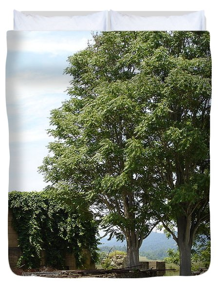 Duvet Cover featuring the photograph Tree House by Jane Ford