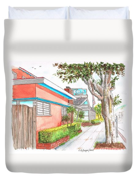 Tree In Laguna Riviera Hotel In Laguna Beach - California Duvet Cover